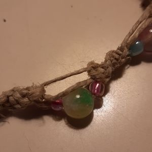 Hand made Rainbow Jade Bracelet